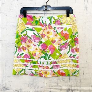 Lilly Pulitzer Floral Embroidery Pocket Mini Skirt